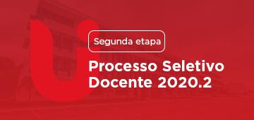 Classificados para a segunda etapa: Processo Seletivo Docente 2020.2