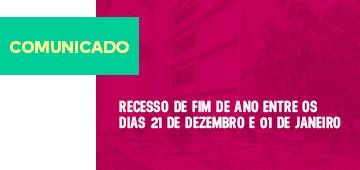 COMUNICADO: FATEC-PB entra em recesso de fim de ano a partir de sábado (21)