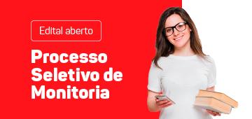 Edital aberto | Processo Seletivo de Monitoria 2020.2
